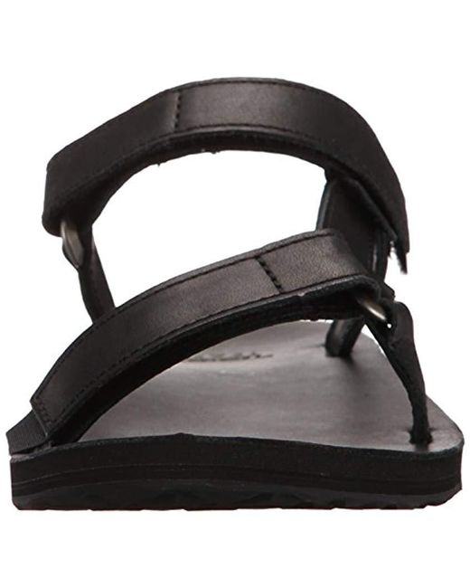 eea58fd3374 ... Teva - Black Universal Slide Leather Sandal - Lyst ...