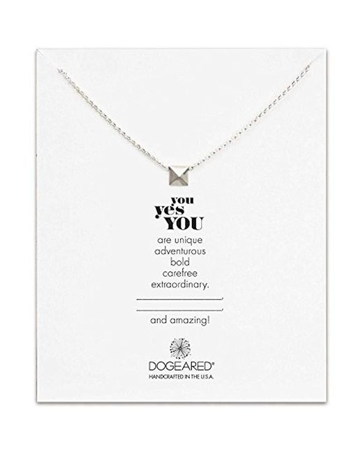 "Dogeared - Metallic Sterling Silver You Yes You Chain Necklace, 18"" - Lyst"