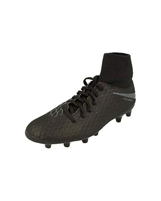 sports shoes c2f77 6d90e Black Unisex Adults' Hypervenom 3 Academy Df Ag-pro Low-top Trainers