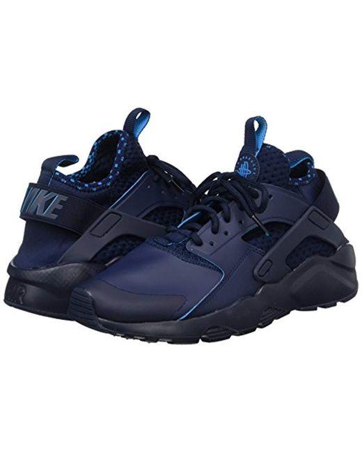 c81293fd1ef0 ... Nike - Blue  s Air Huarache Run Ultra Se Gymnastics Shoes White for Men  ...
