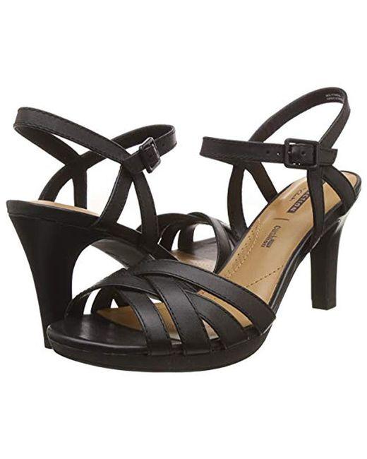 51aa6dbcb5e Clarks Adriel Wavy Sandals in Black - Save 25% - Lyst