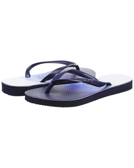 4ed752f3e555f Havaianas Slim Dip Dye Flip Flops in Blue - Save 4.0% - Lyst