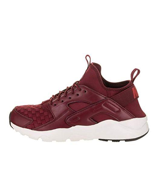 39c8006a8bc6 ... Nike - Red Air Huarache Run Ultra Se Gymnastics Shoes for Men - Lyst ...
