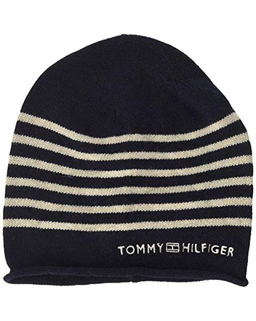 0a62bf52 Tommy Hilfiger Stripe Beanie in Blue - Lyst
