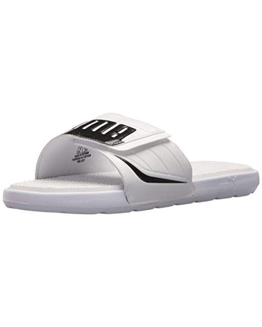 a97a7da4696cdb PUMA - White Starcat Bold Plus Slide Sandal for Men - Lyst ...