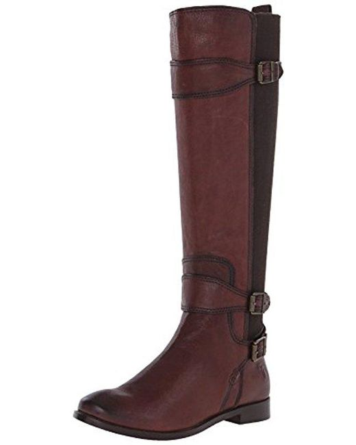 Frye - Brown Anna Gore Tall Buffalo Leather Riding Boot - Lyst