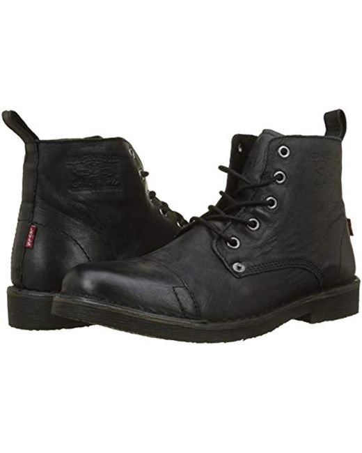 71654c2d ... Levi's - Black Track Biker Boots for Men ...