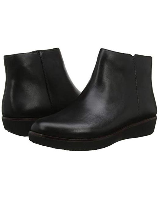 e893ad1fecf13 ... Fitflop - Black Ziggy Zip Ankle Boots - Lyst ...