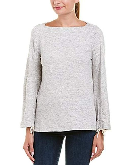 Ella Moss - Gray Wide Sleeve Sweatshirt - Lyst