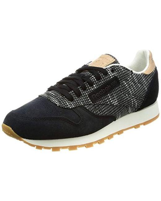 1af2eee28a7 Reebok  s Cl Leather Ebk Fitness Shoes in Black for Men - Lyst