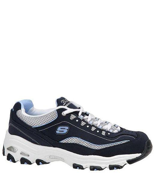 c9e23587c06f Skechers - Blue Sport D lites Original Non-memory Foam Lace-up Sneaker