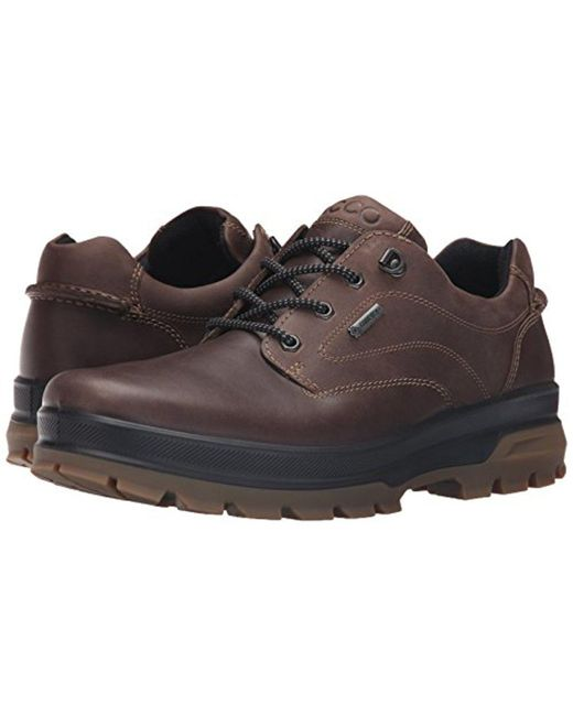 ... Ecco - Brown Rugged Track Gtx Tie Hiking for Men - Lyst ...