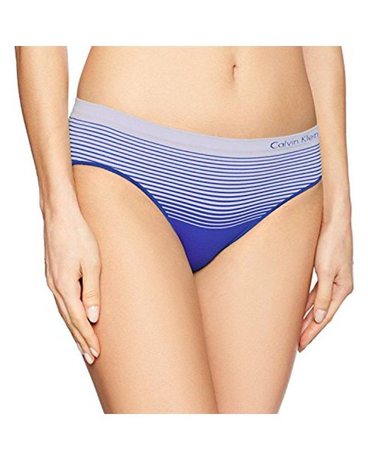 CALVIN KLEIN 205W39NYC - Blue Seamless Illusions Hipster - Lyst