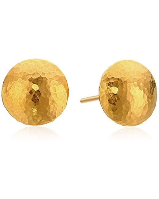 "Gurhan - Metallic ""lentil"" 24k Gold Stud Earrings - Lyst"