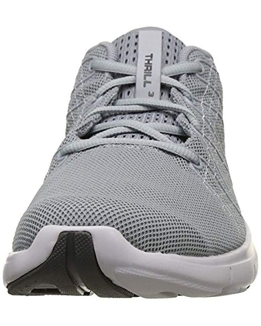 new concept 33769 d0882 Men's Gray Ua Thrill 3 Running Shoes
