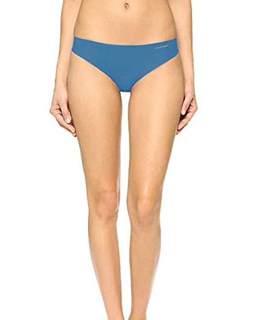 Calvin Klein - Blue Invisibles Thong - Lyst