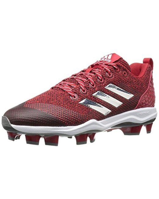 Lyst adidas originali mostro x carbonio metà baseball scarpa, potere rosso