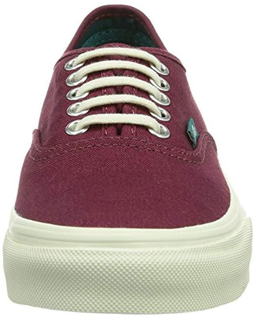 a1368348a8 ... Vans - Red Unisex-adult U Authentic Slim Low-top Trainers for Men ...