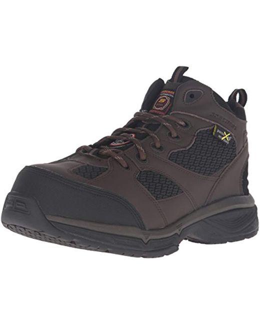 Skechers - Brown For Work Conroe Slip Resistant Centerton Boot for Men - Lyst
