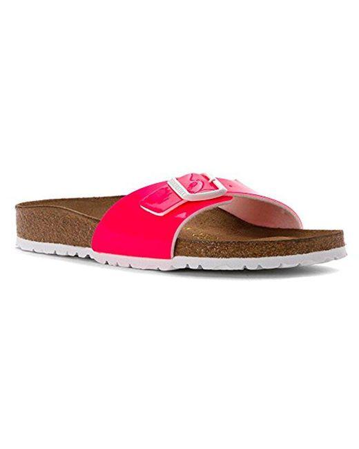 Birkenstock - Pink Madrid Patent Sandals - Lyst