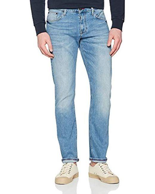 bfa70391 Tommy Hilfiger - Denton-str Reno Blue Straight Jeans for Men - Lyst ...