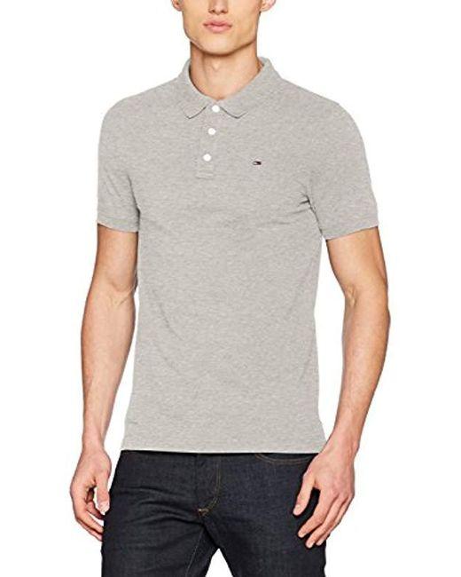 723114a9 Tommy Hilfiger - Gray Original Fine Pique Short Sleeve Polo Shirt for Men -  Lyst ...