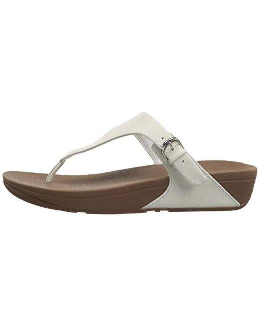 f0b06178d46f9d ... Fitflop - Multicolor Skinny Toe Thong Leather Heels Sandals - Lyst ...