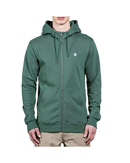 Volcom - Green Single Stone Zip Up Fleece for Men - Lyst