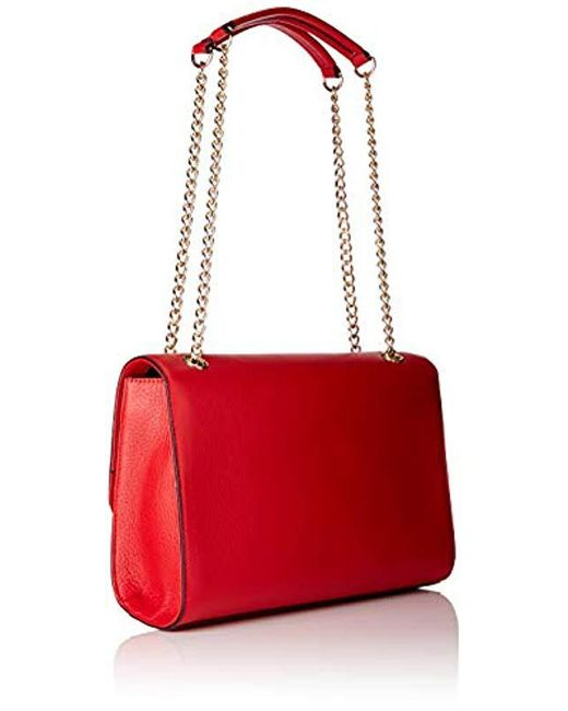 fad3783c57 ... Love Moschino - Red Borsa Vitello Pebble Grain Shoulder Bag - Lyst ...