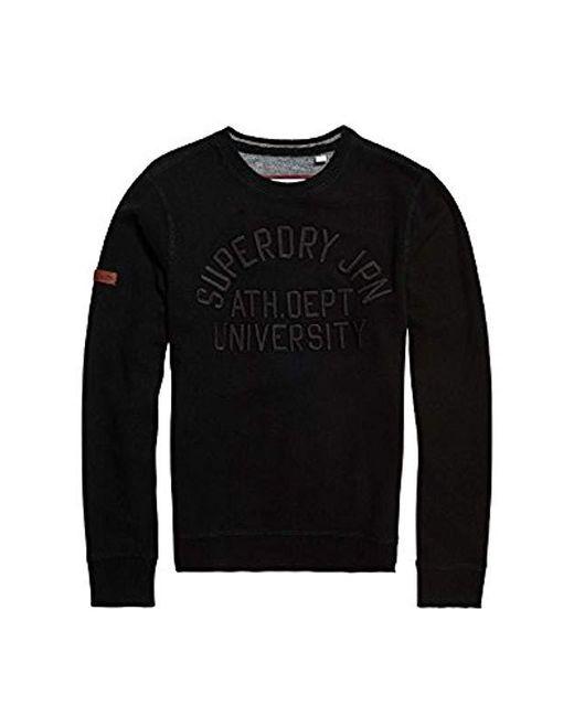Superdry - Black Sports Sweatshirt for Men - Lyst