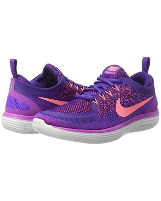 hot sale online e73ee 22bd8 ... Nike - Purple Wmns Free Rn Distance 2 Running Shoes - Lyst ...