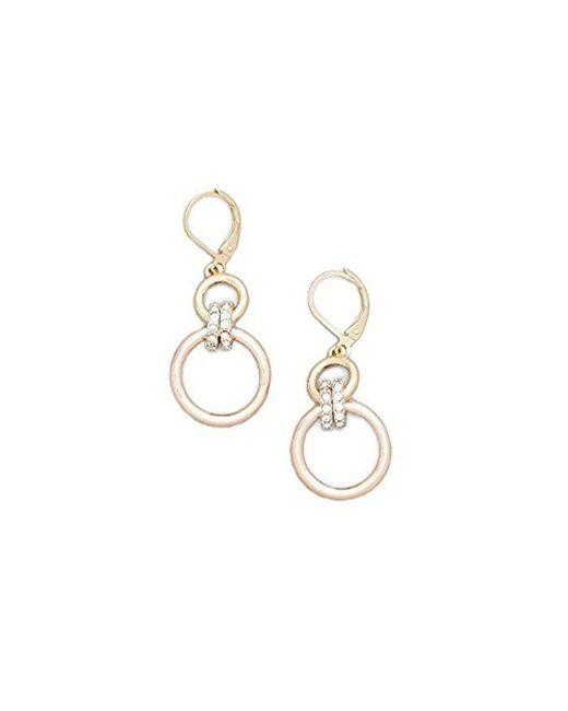 Kenneth Cole - Metallic New York Multi-tone Jeweled Earring - - Lyst