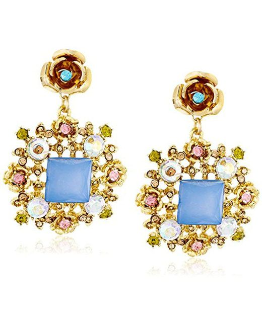 """Betsey Johnson - Multicolor """"queen Bee"""" Faceted Bead Ornate Drop Earrings - Lyst"""