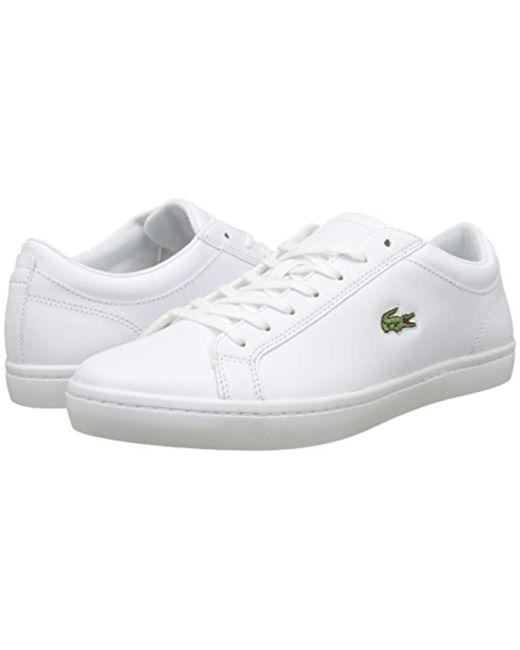 27c900398 Lacoste Straightset Bl 1 (white) Men s Shoes in White for Men - Lyst