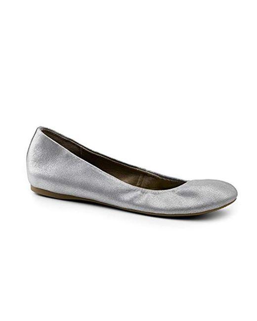 G.H.BASS - Metallic Felicity Ballet Flat - Lyst