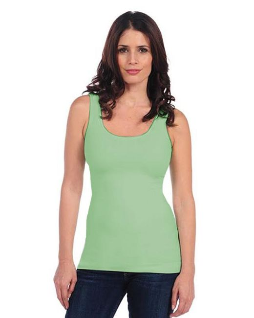 Tees by Tina | Green Smooth Tank In Celery | Lyst