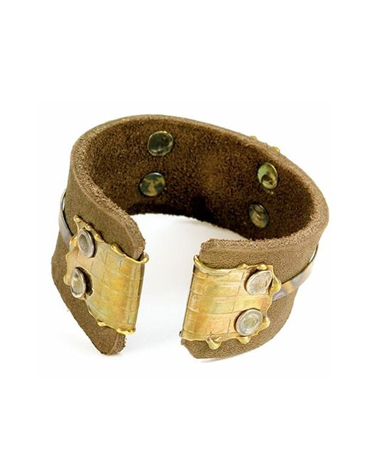Sibilla G Jewelry | Sibilla G Leather Cuff In Distressed Brown | Lyst