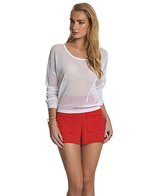 Sen Collection   White Renee Crew Neck Sweater   Lyst