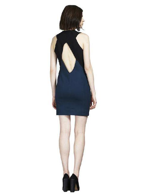 Cut25 by Yigal Azrouël - Blue By Yigal Azrouel Scuba Zipper Front Dress - Lyst