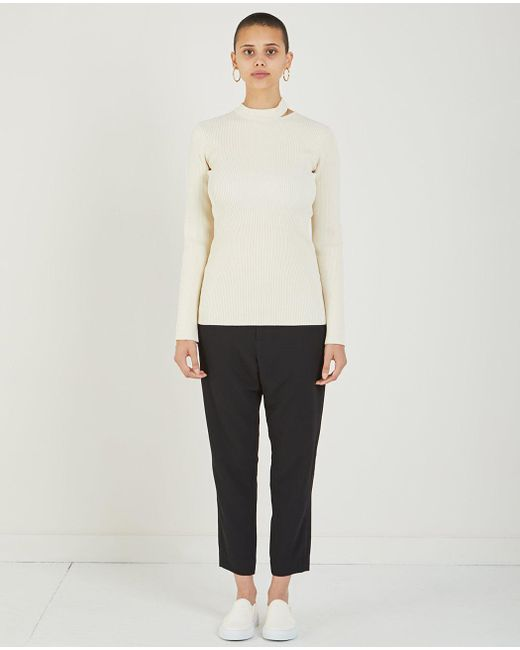 Nomia - Natural Slit Collar Sweater - Lyst