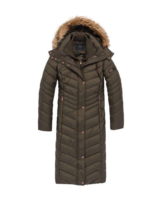 Marc New York | Black Real Fur Trim Down Coat | Lyst