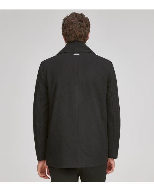 bca9b93105e7 ... Andrew Marc - Black Emmett Wool Peacoat for Men - Lyst