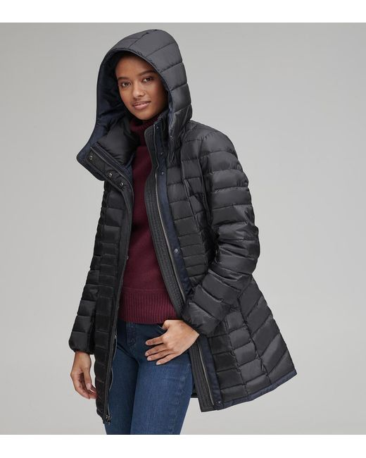 Andrew Marc Black Marble Lightweight Packable Synthetic Down