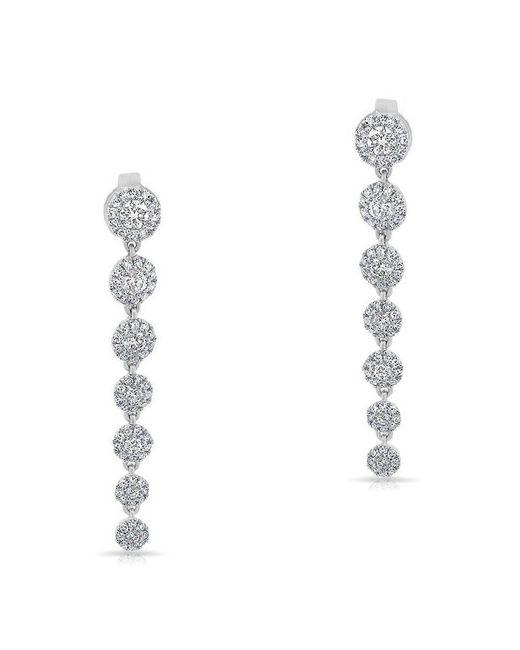 Anne Sisteron - Metallic 14kt White Gold Diamond Francesca Earrings - Lyst