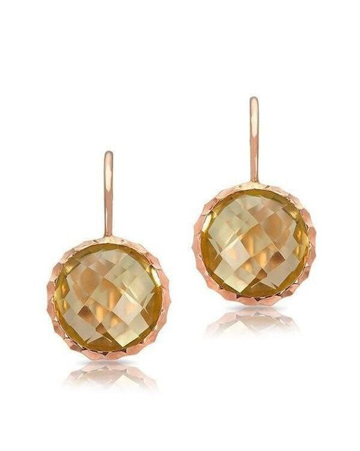 Anne Sisteron - Metallic 14kt Rose Gold Lemon Topaz Earrings - Lyst