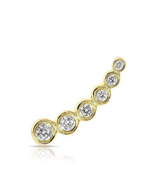 Anne Sisteron - Metallic 14kt Yellow Gold Diamond Mini Shooting Star Ear Climber - Lyst