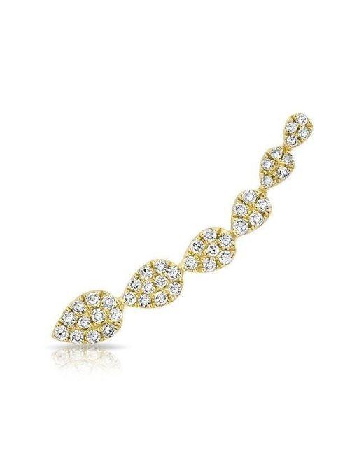 Anne Sisteron - Metallic 14kt Yellow Gold Diamond Tessa Ear Climber - Lyst