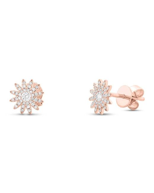 Anne Sisteron - Metallic 14kt Rose Gold Diamond Starburst Stud Earrings - Lyst