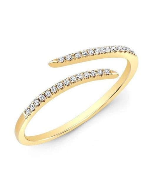 Anne Sisteron - Metallic 14kt Yellow Gold Diamond Open Embrace Ring - Lyst