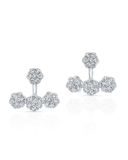 Anne Sisteron - Metallic 18kt White Gold Diamond Shari Floating Earrings - Lyst